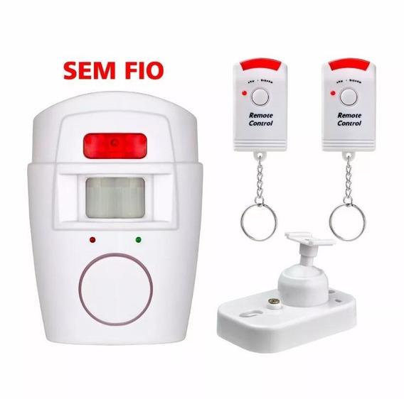 Kit 2 Alarme Residencial Sensor De Presença S/ Fio Sirene