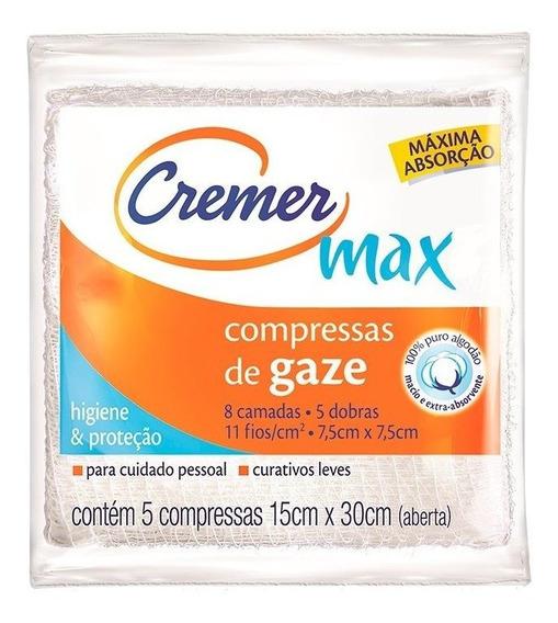 Compressa De Gaze Cremer 7,5x7,5 Com 5 Unidades