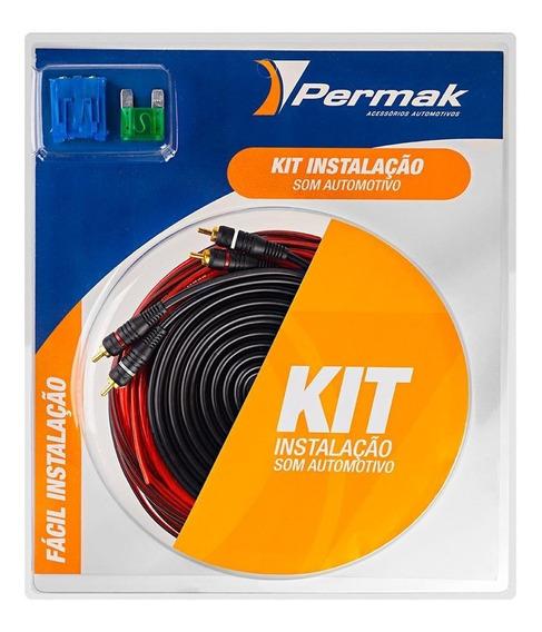 Kit Instalação Som Automotivo Permak 100% Cobre 2500 Wrms