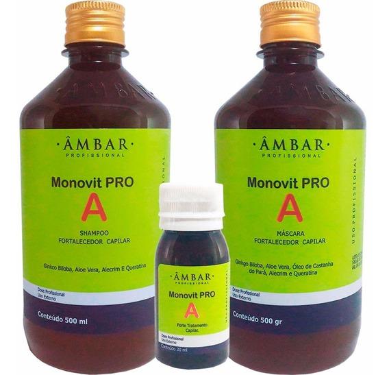 2 Kits Monovit Pro A Original Âmbar Profissional Promoção