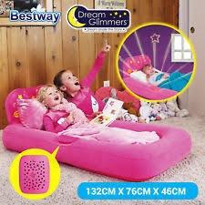 Colchon Cama Inflable Niños Infantil Con Luces 132x 76x46cm