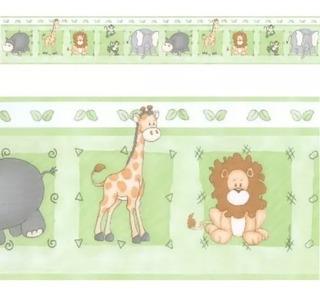 04 Faixa Decorativa De Parede Infantil Border Bebê Safari