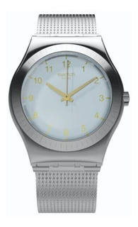 Reloj Swatch Mujer Plateado Quiteness Yls187m Acero Wr 30