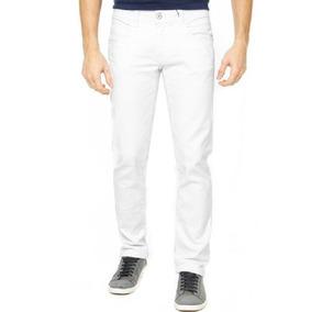 Calça Jeans Colorida Masculina Sarja C/ Lycra Até Nº60 Plus