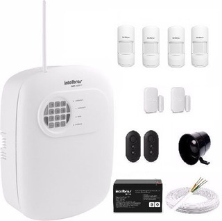 Kit Alarme Intelbras 4 Zonas Com Fio E 4 Sensores Pet 20 Kg