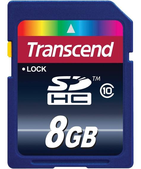 Kit 10 Cartão De Memória 8 Gb Class 10 Transcend Original Sd