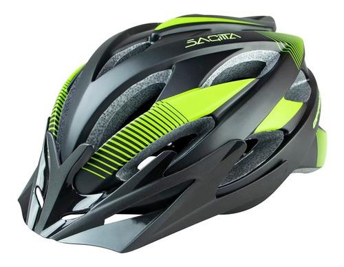 Casco Ciclismo Optimus Sagitta - Verde Con Luz Talle M Y L