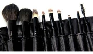 Estuche Con 9 Brochas Para Maquillaje