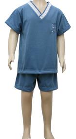 Pijama Curto Infantil Masculino Blusa Manga Curta Short