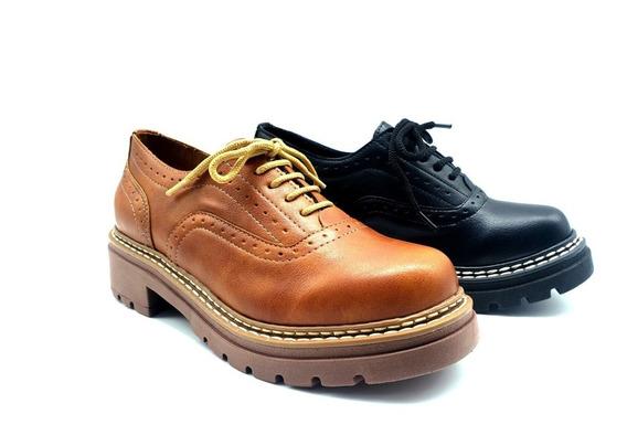Zapato Acordonado Picado Eco Cuero Savage Ms-61