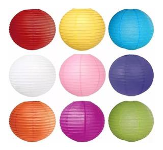 Farol Chino 40cm X Unidad Colores Varios Colores En Fuga