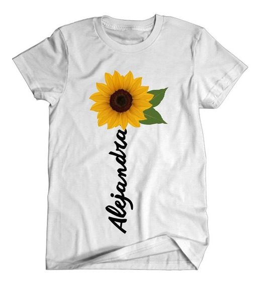 Playera Girasol Envio Gratis Playera Color Blanca