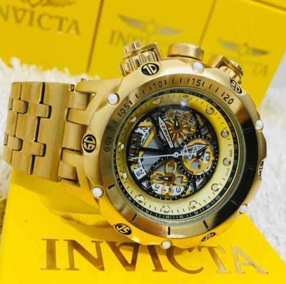 Relógio Invicta Reserva 100% OriginalBanhado A Ouro 18k