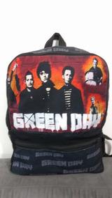 Mochila Grande Escolar Green Day Banda Punk Rock Tumblr