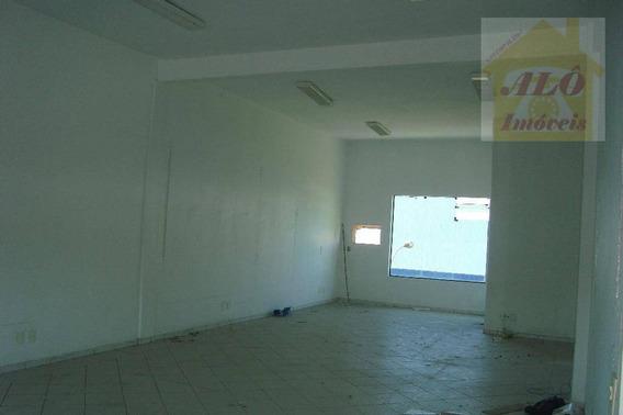 Sala Para Alugar, 70 M² Por R$ 1.300,00/mês - Tude Bastos (sítio Do Campo) - Praia Grande/sp - Sa0014