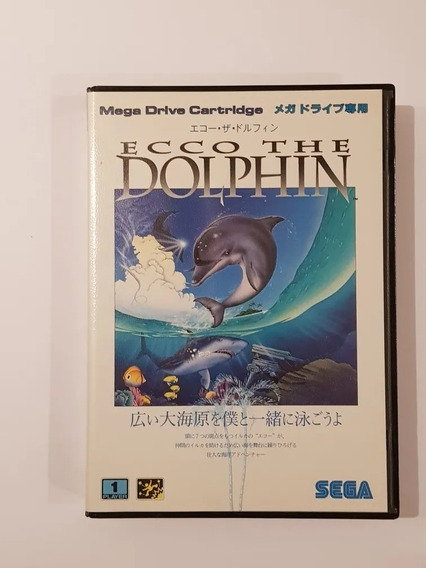 Mega Drive Ecco The Dolphin Original Japones Raridade