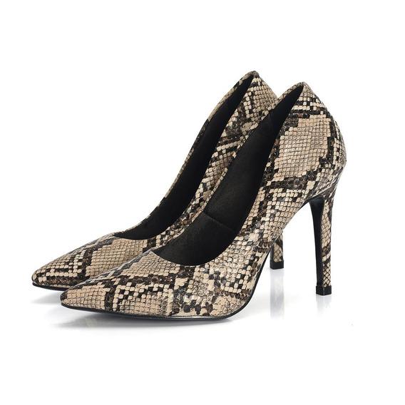 Scarpin Cobra Salto Alto Ousado Moderno Fashion Confort Chic