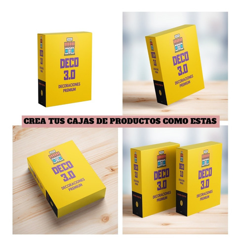 Mockup Caja De Productos 4 En 1 Editables En Photoshop