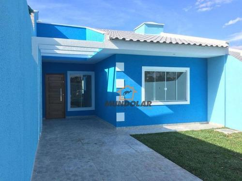 Casa Com 3 Dormitórios À Venda, 60 M² Por R$ 210.000,00 - Campina Da Barra - Araucária/pr - Ca1470