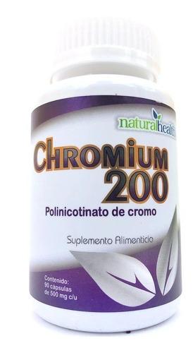 Imagen 1 de 3 de Picolinato De Cromo 200 90 Cápsulas Natural Health