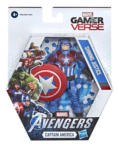Avengers Boneco Captain America Marvel Gamer Verse Hasbro