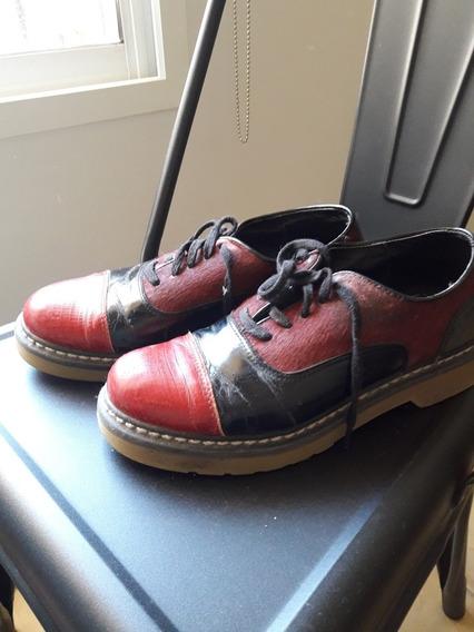 Zapatos Blaque De Cuero