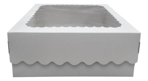 Imagen 1 de 2 de Caja Para Desayuno O Torta 30x30x12 Con Visor X10u