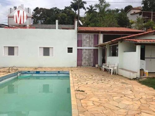 Linda Chácara Com 2 Dormitórios, Piscina, Jardim, Bem Localizada, Próximo Ao Asfalto, À Venda, 500 M² Por R$ 300.000 - Zona Rural - Pinhalzinho/sp - Ch0913