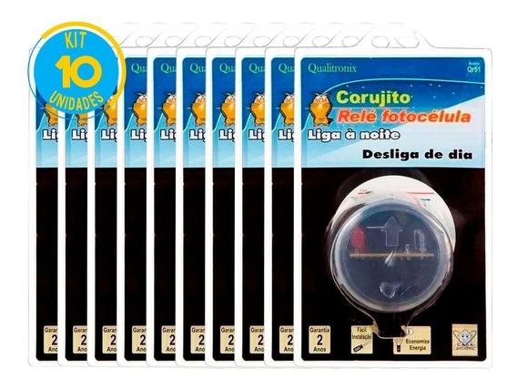 Relé Fotocélula Corujito Qr51 Qualitronix Kit 10 Un