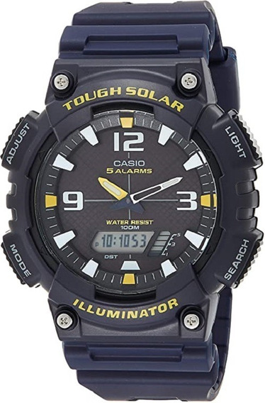 Relógio Casio Original Masculino Solar Aqs810w2avdf