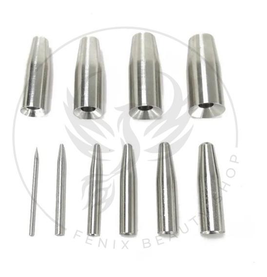 10 Pino De Inserção Para Alargar Orelha Aço Inox Piercing