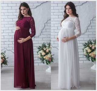 Vestidos Elegantes Para Embarazadas Largos En Mercado Libre