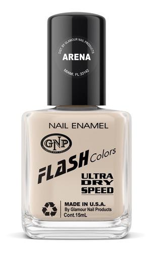 Imagen 1 de 4 de Esmalte Flash Colors De Gnp 15ml Arena