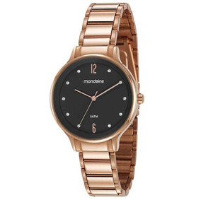Relógio Mondaine Feminino Rosê Preto 53626lpmvre2