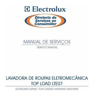 Manual Serviço Lavadora Electrolux Lte07 Top Load Pdf E-mail