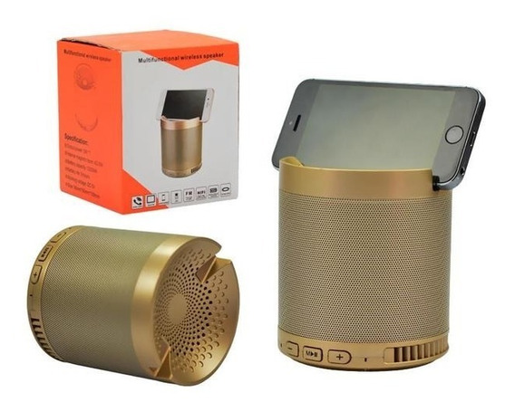 Caixa De Som Portatil Bluetooth 5w Suporte Celular Mp3 Usb