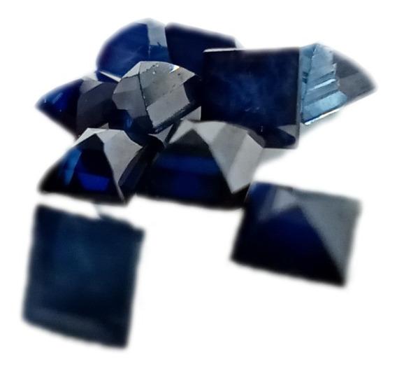 Safira Azul Carré Natural 2,5 Mm Aa