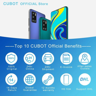 Cubot P40 4gb Ram 128gb Rom 6,2 Quad Camera + Selfie 20mp