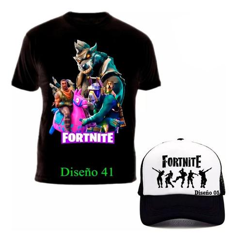 Camiseta Fortnite Battle Royale + Gorra Promo Exclusiva !