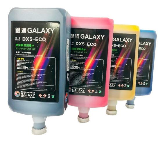 Tinta Ecosolvente Galaxy Dx4,5,7-eco Kit 1 Tinta C M Y K