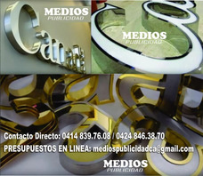 Letras Corporeas Acero Casas Mdf, Avisos Fabrica Directa!!!