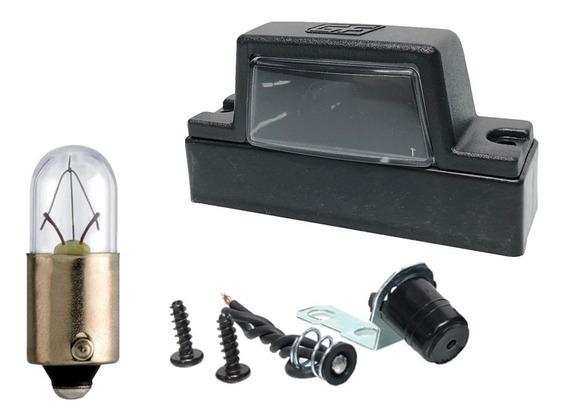 Lanterna De Placa Universal Carretinha Reboque C/ Lâmpada