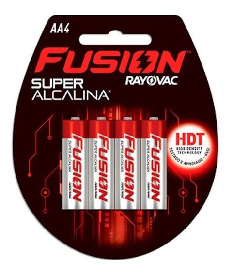 Pilha Super Alcalina Aa2 2 Unidades Fusion Rayovac Rayovac
