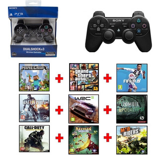 Control De Ps3+ 8 Juegos Digitales Sin Formatear / 20 Verds