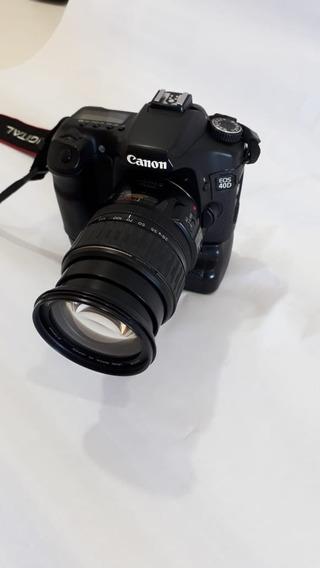 Canon 40d C/ Lente 28-135mm, Cartão Cf + Grip Equipada