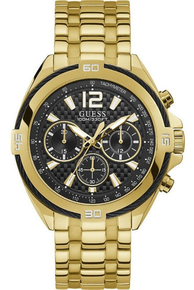 Relógio Guess W1258g2 Dourado Original Completo Caixa
