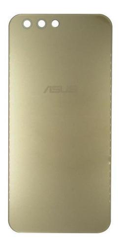 Tampa Vidro Traseira Zenfone 4 Ze554kl + Adesivo - Dourada