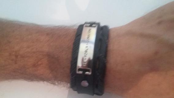 Pulseira Bracelete Fé Força Coragem Gospel Masculina
