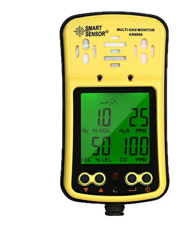 Imagen 1 de 6 de Sensor Inteligente Monitor De Gases Múltiples Portátil Y De