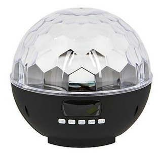 Parlante Portátil Bluetooth Con Esfera De Luces 2 En 1.